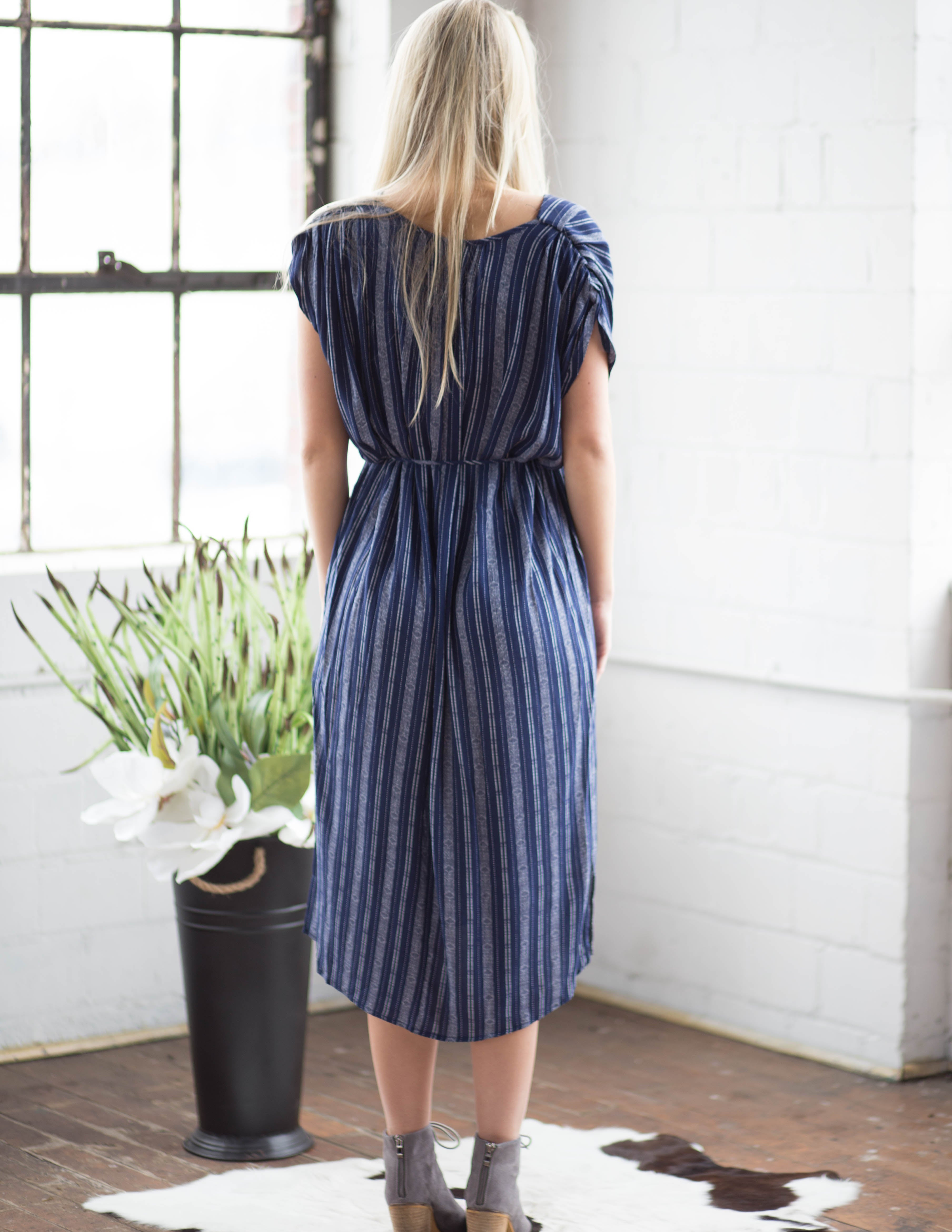 Florence Striped Midi Dress | Rose & Remington