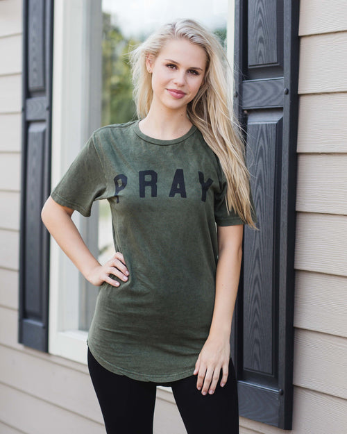 """PRAY"" Tunic Tee 