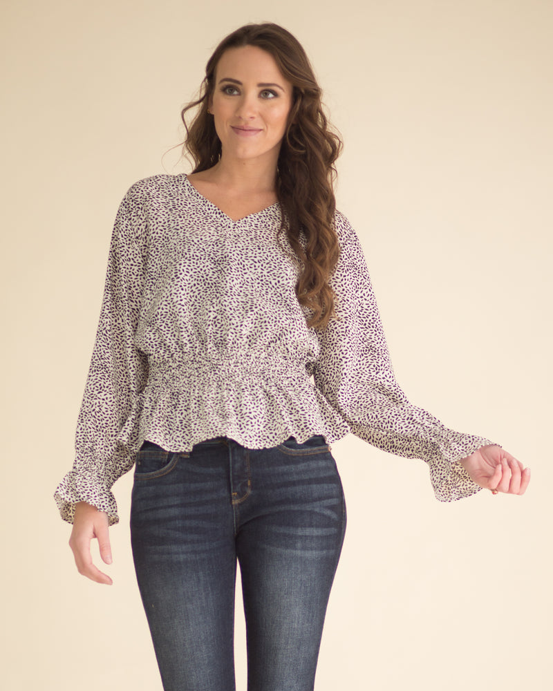 Isabelle Dotted Flare Top