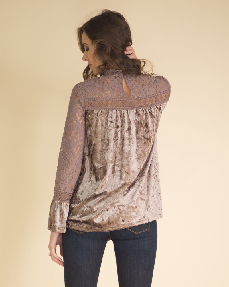 Isla Velvet Long Sleeve Top
