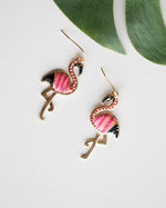 Flamingo Threaded Earrings