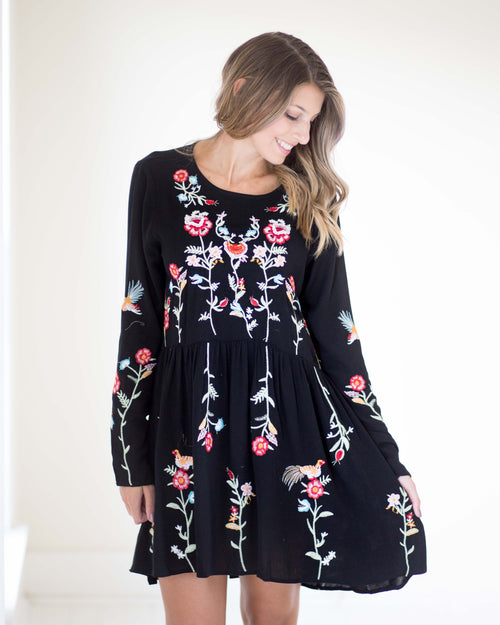 Alice Embroidered Long Sleeve Dress