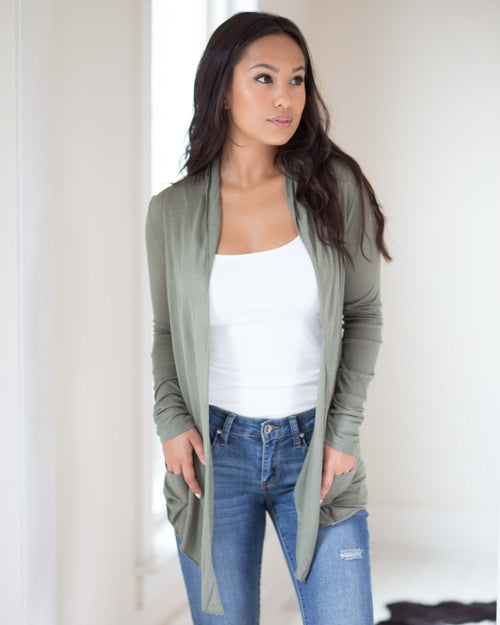 Dani Draped Cardigan | Rose & Remington