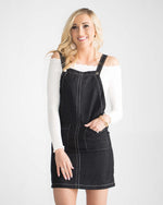June Pocketed Jumper Dress