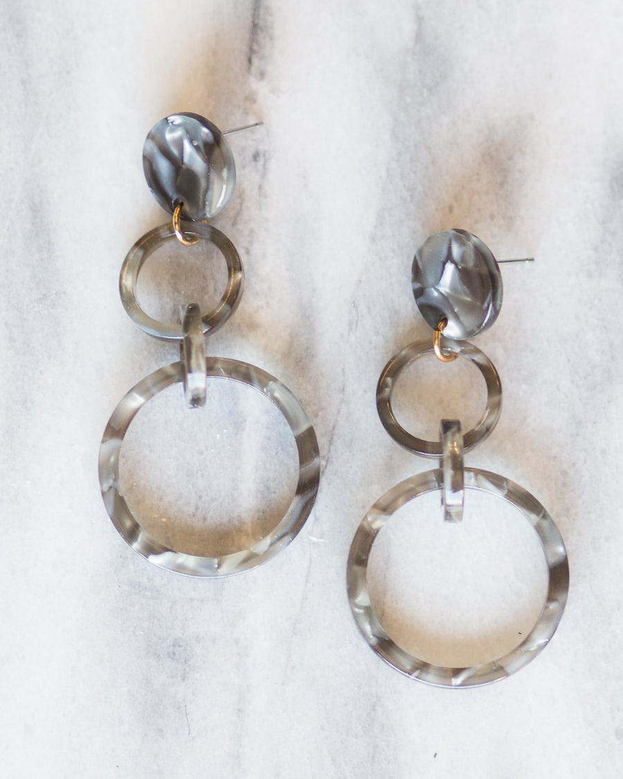 Third Time's a Charm Earrings- Gray