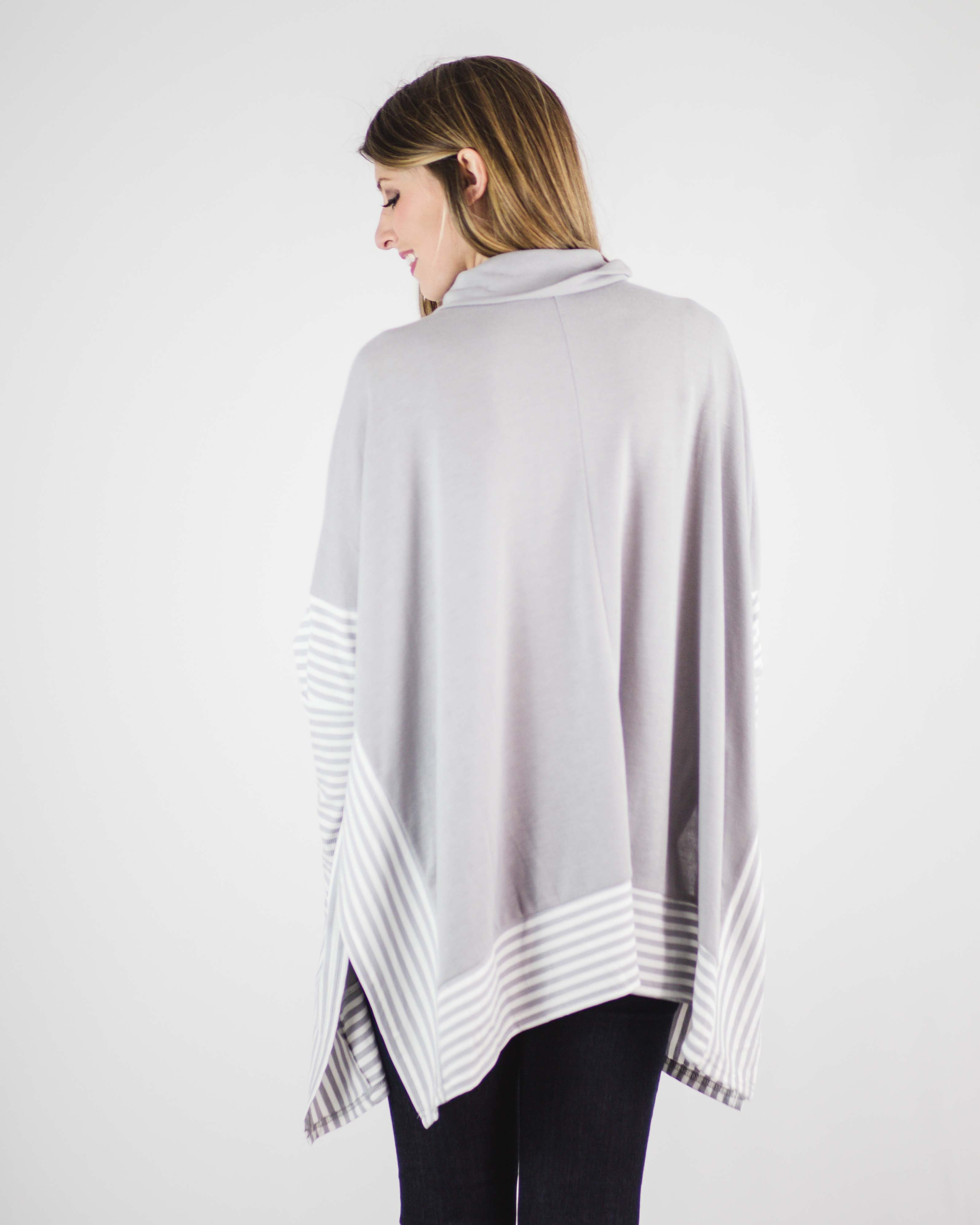 Casey Striped Cape Sweater