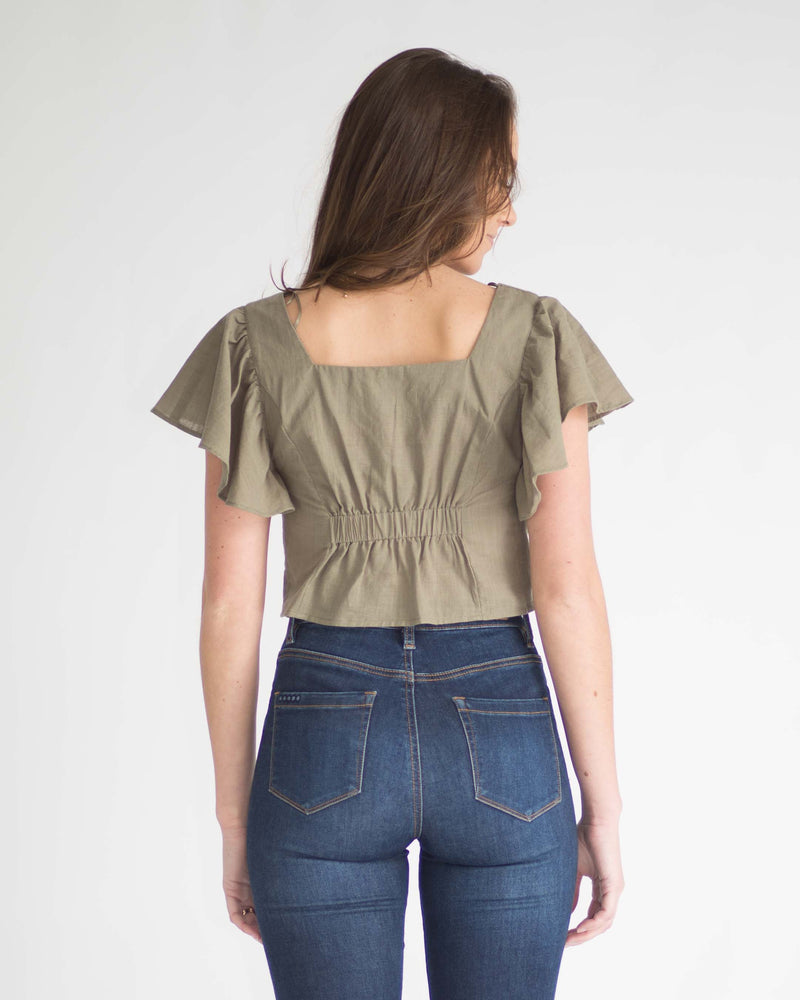 Betty Butterfly Sleeve Top