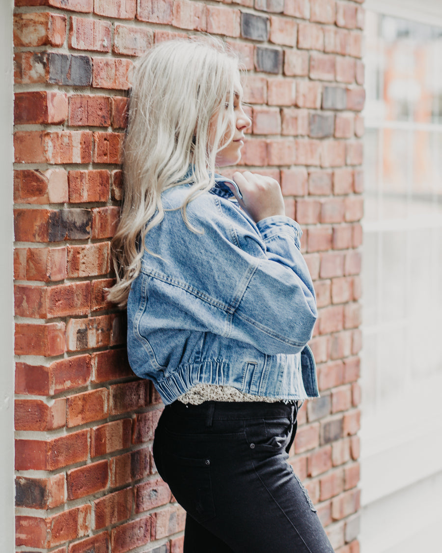 Evelyn Cropped Denim Jacket