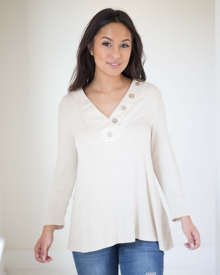 Finlay Button Front Top | Rose & Remington