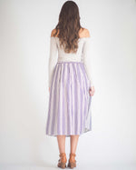 Lucy Striped Midi Skirt