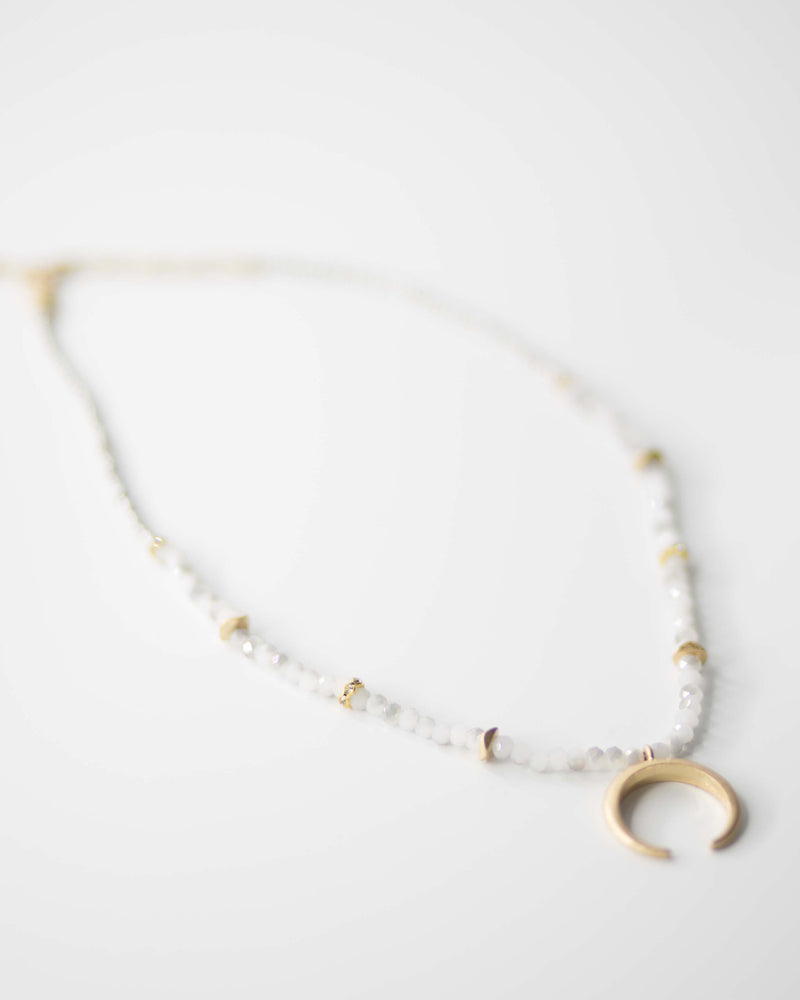 Moonlight Crescent Necklace