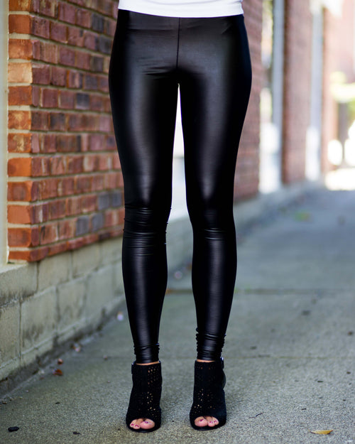 Weekender Faux Leather Leggings