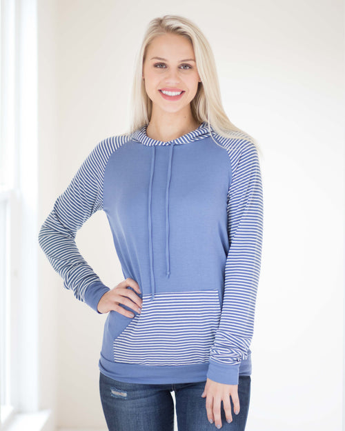 Carolina Striped Hooded Top | Rose & Remington