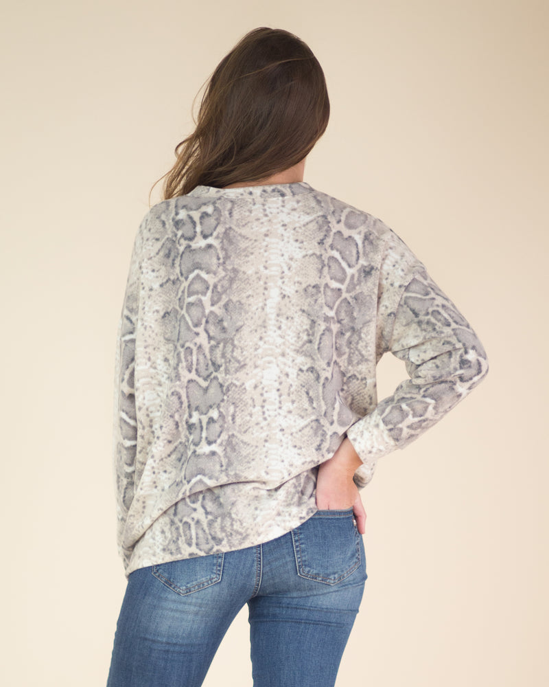 Soft Touch Snake Print Top