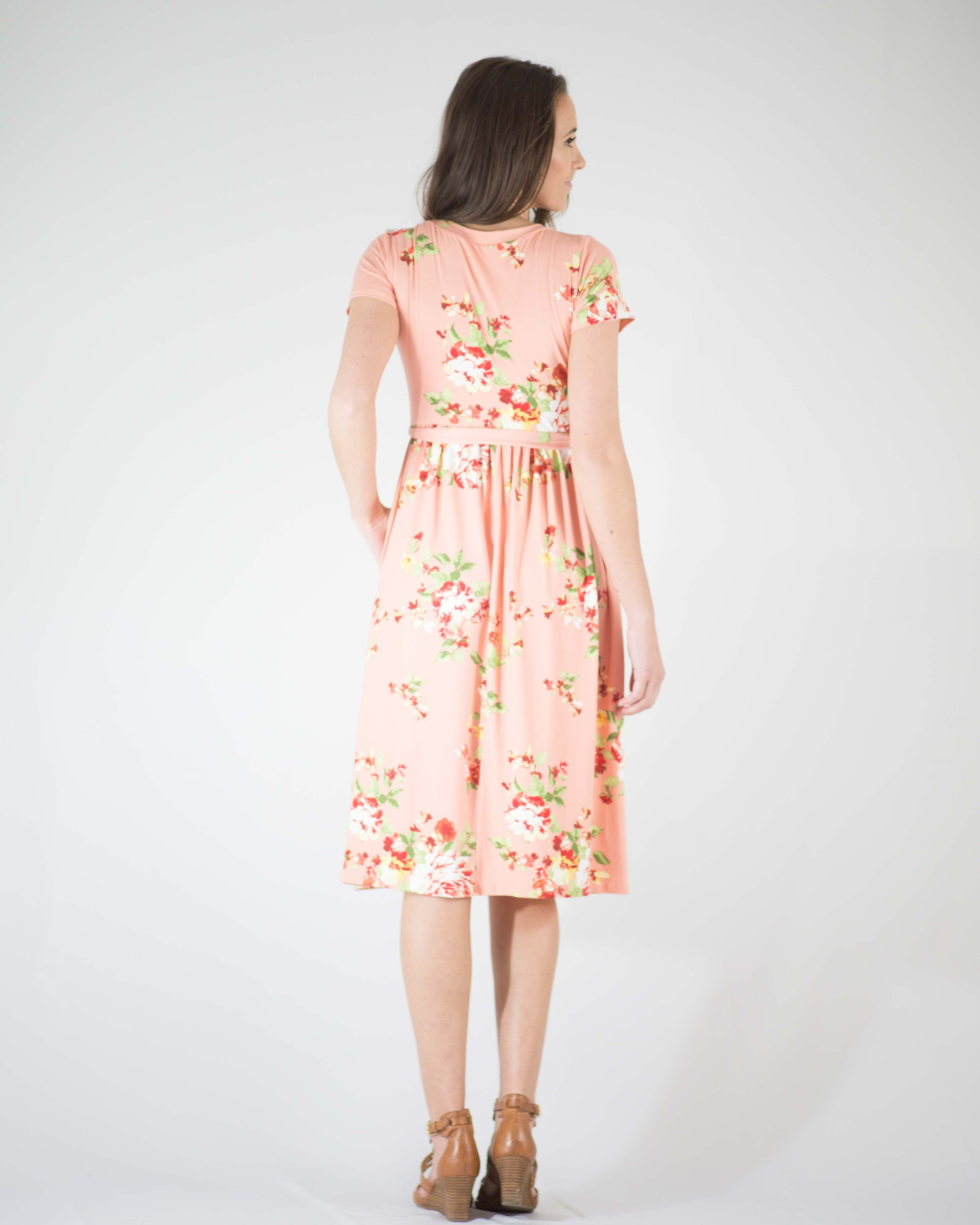 Soft Touch Floral Wrap Dress