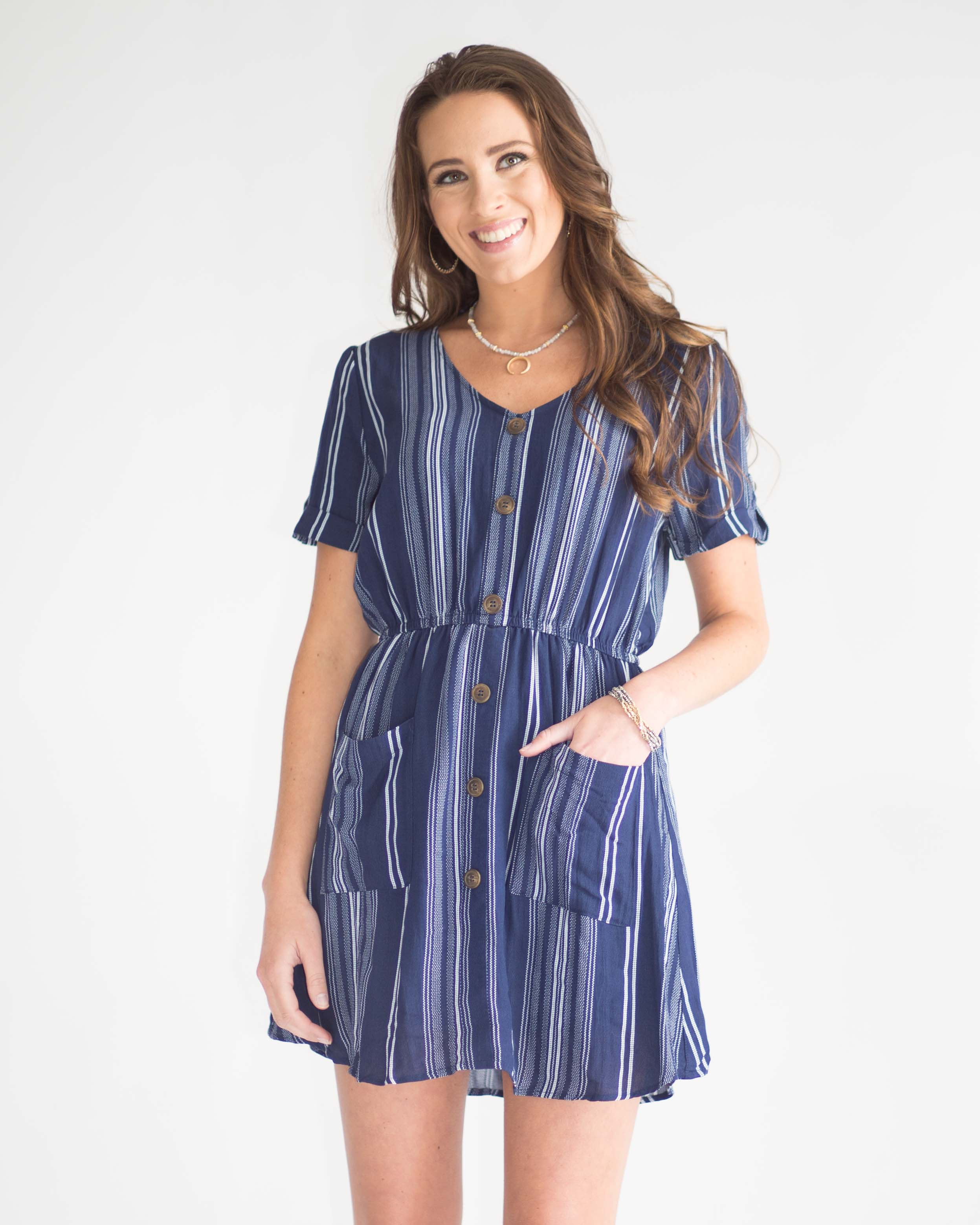 Nora Button Front Dress