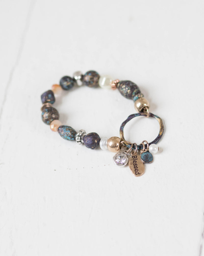 "Colorful ""Blessed"" Bracelet 