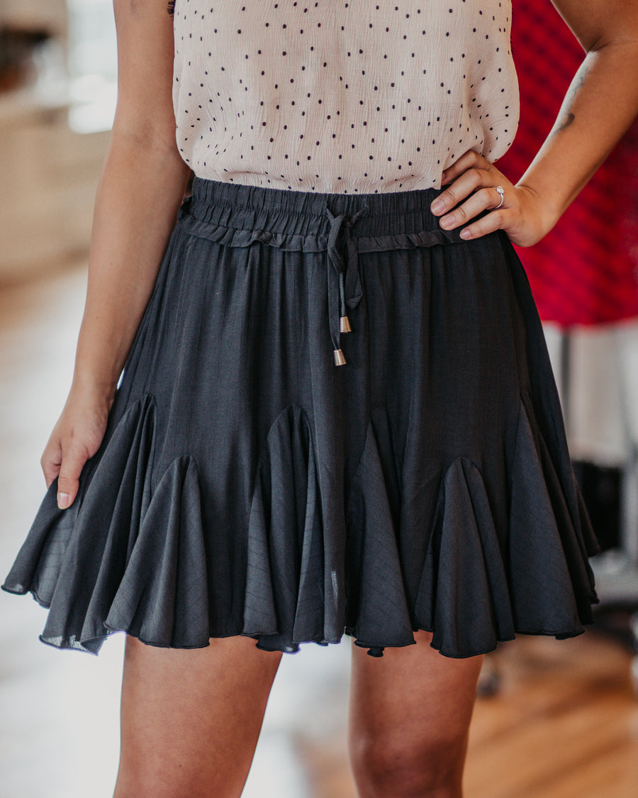 Statement Ruffle Tie Skirt