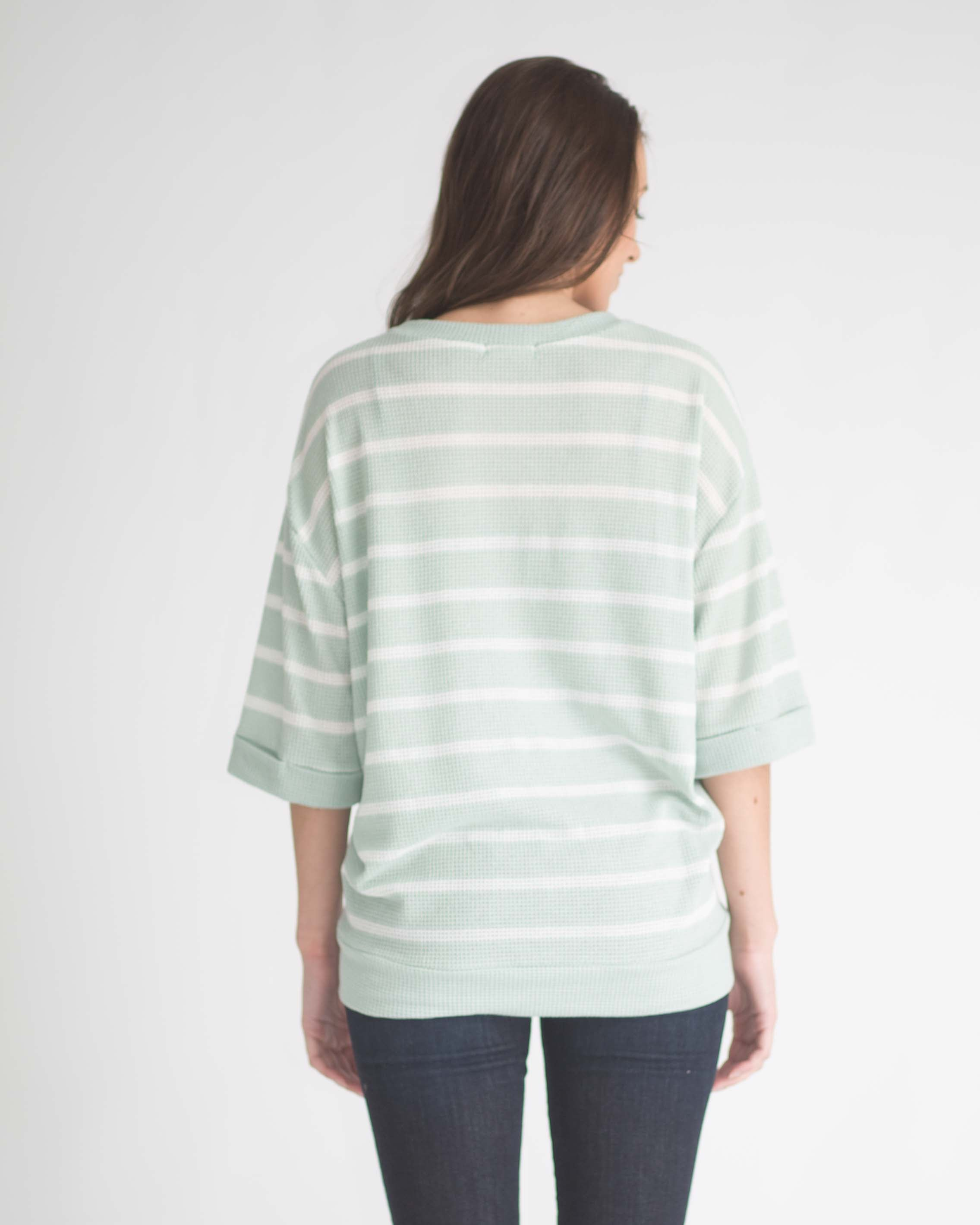 June Relax Fit Striped Top