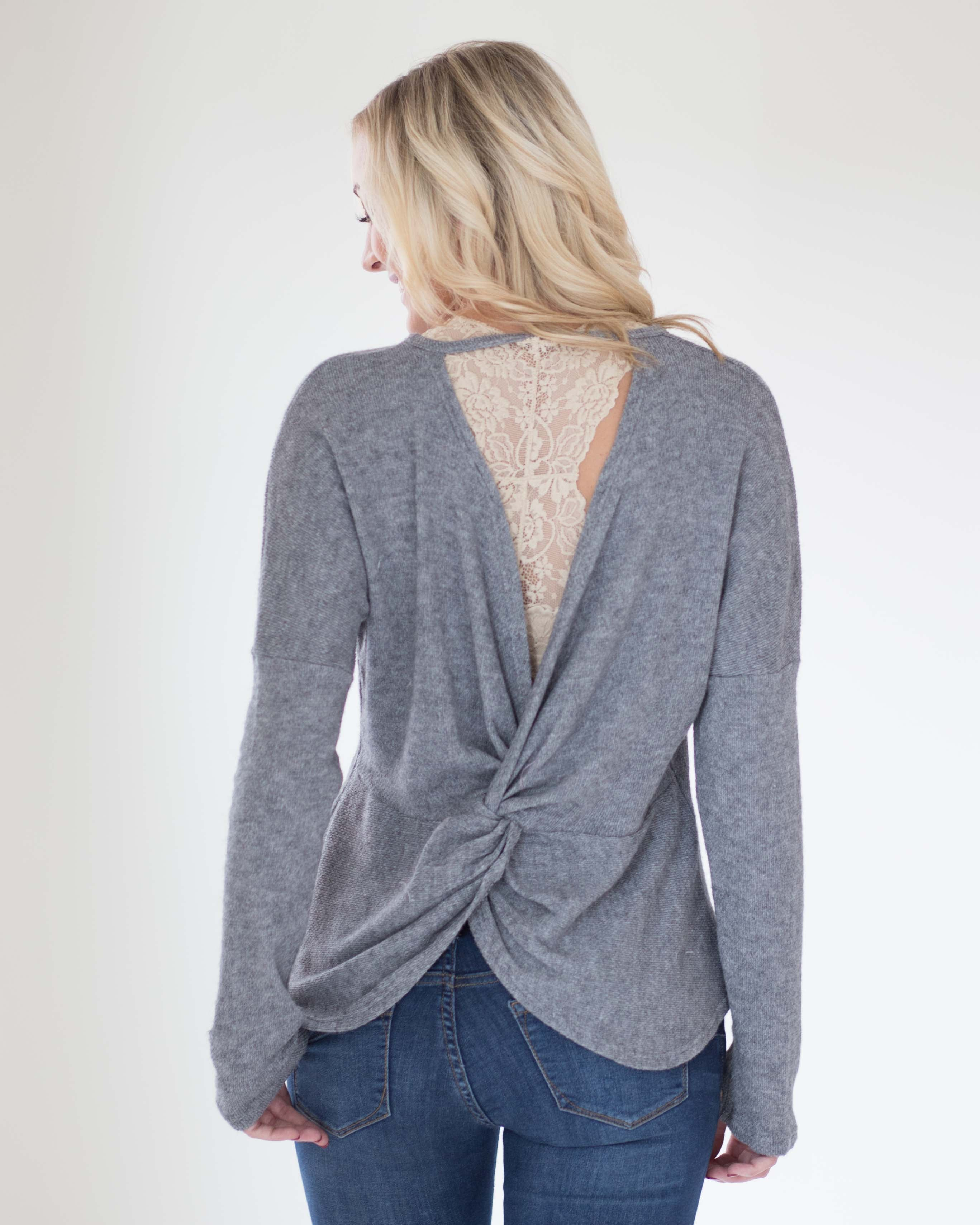 Soft Touch Twist Back Top