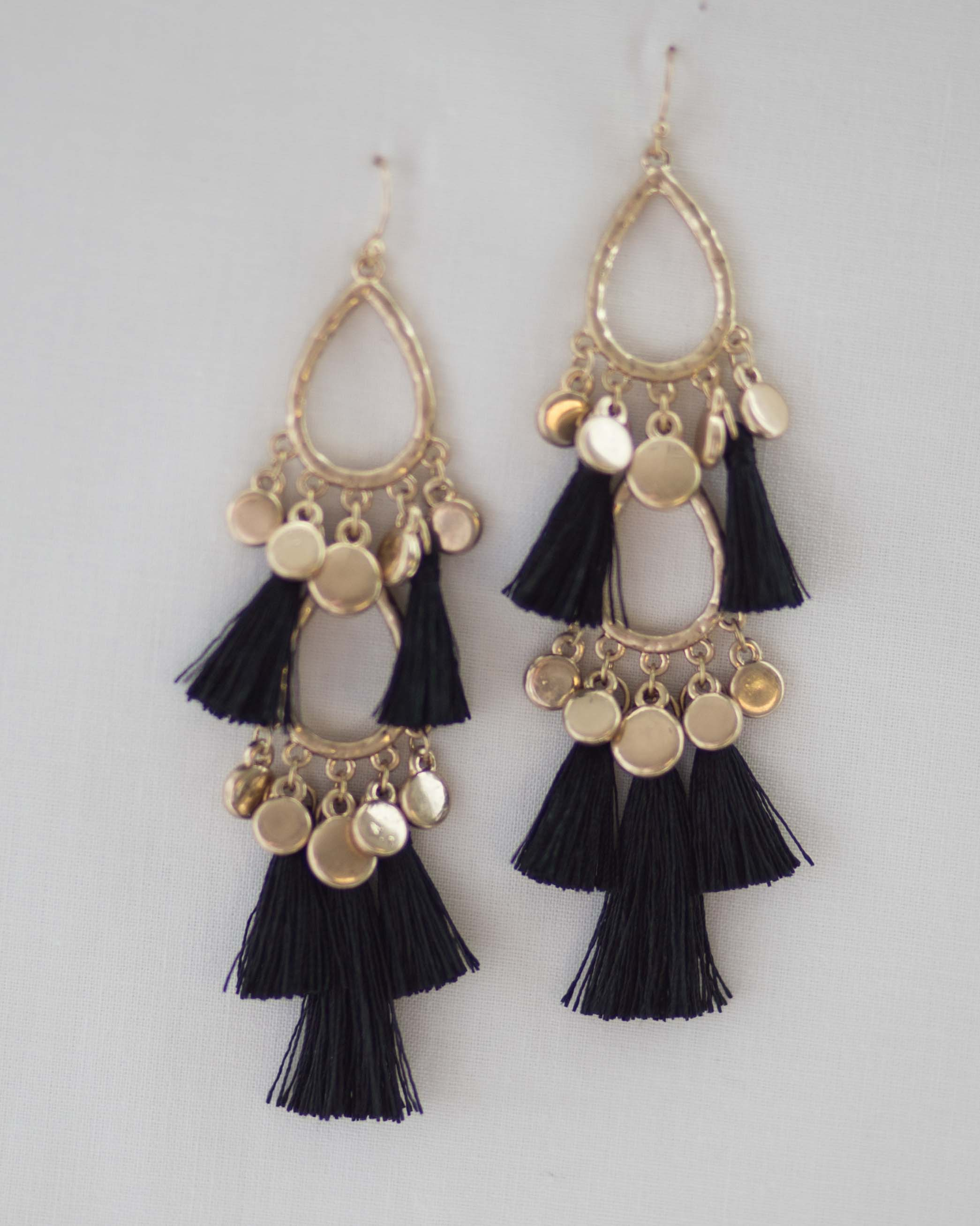 Ellis Tassel Drop Earrings | Rose & Remington