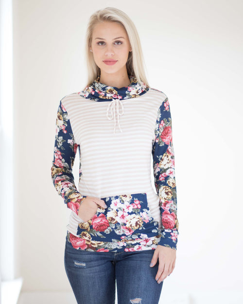 Maura Floral Pullover Top | Rose & Remington