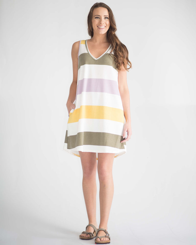 Adelina Sleeveless V-Neck Dress