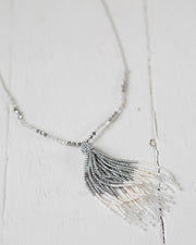 Beaded Silver Ombré Necklace | Rose & Remington