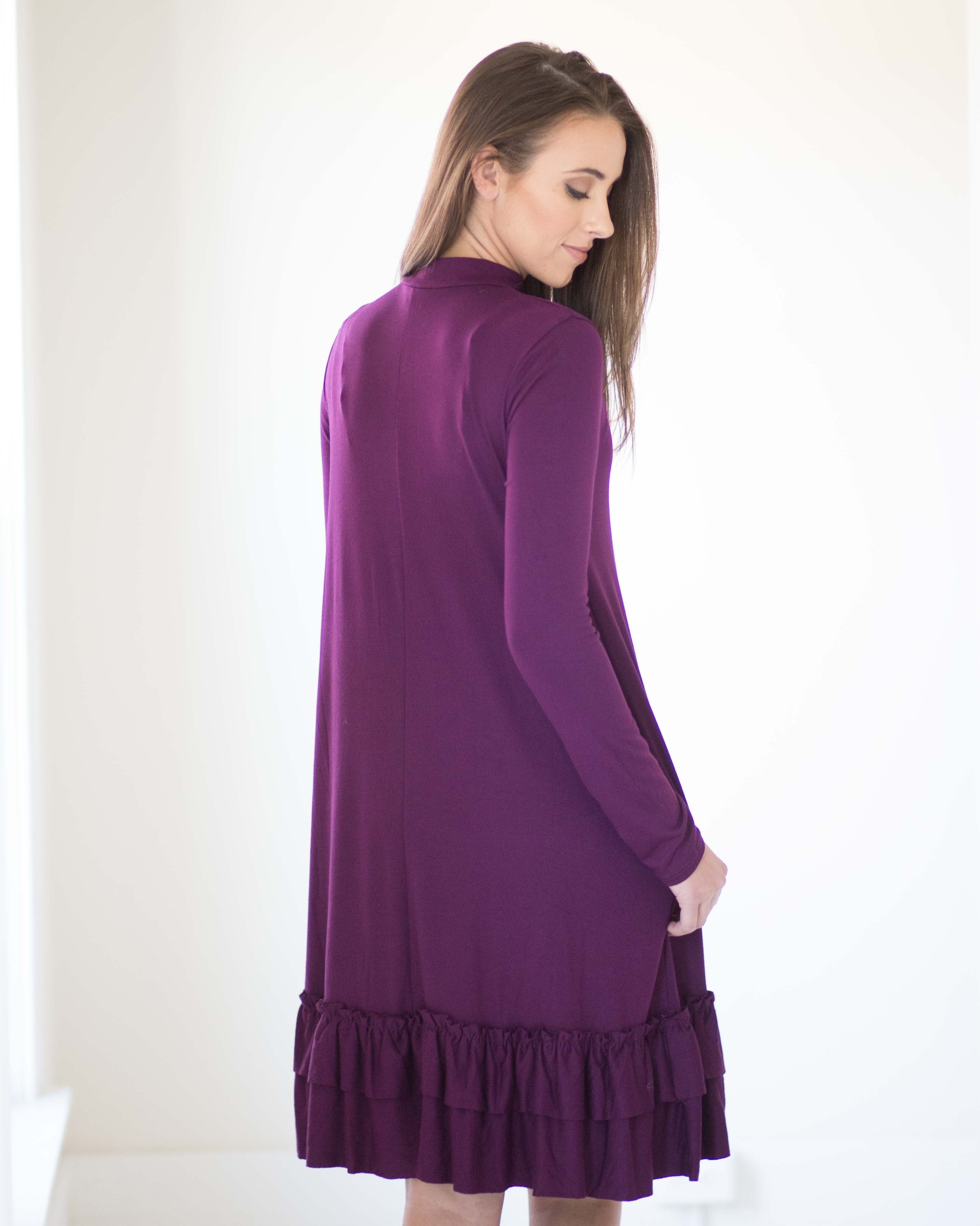 Miranda Mock Neck Long Sleeve Dress