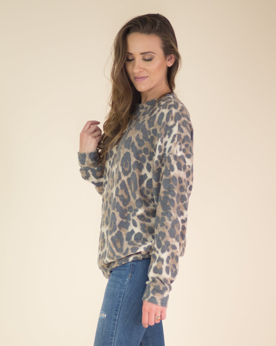 Soft Touch Leopard Print Top
