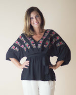 Margot Embroidered Kimono Top