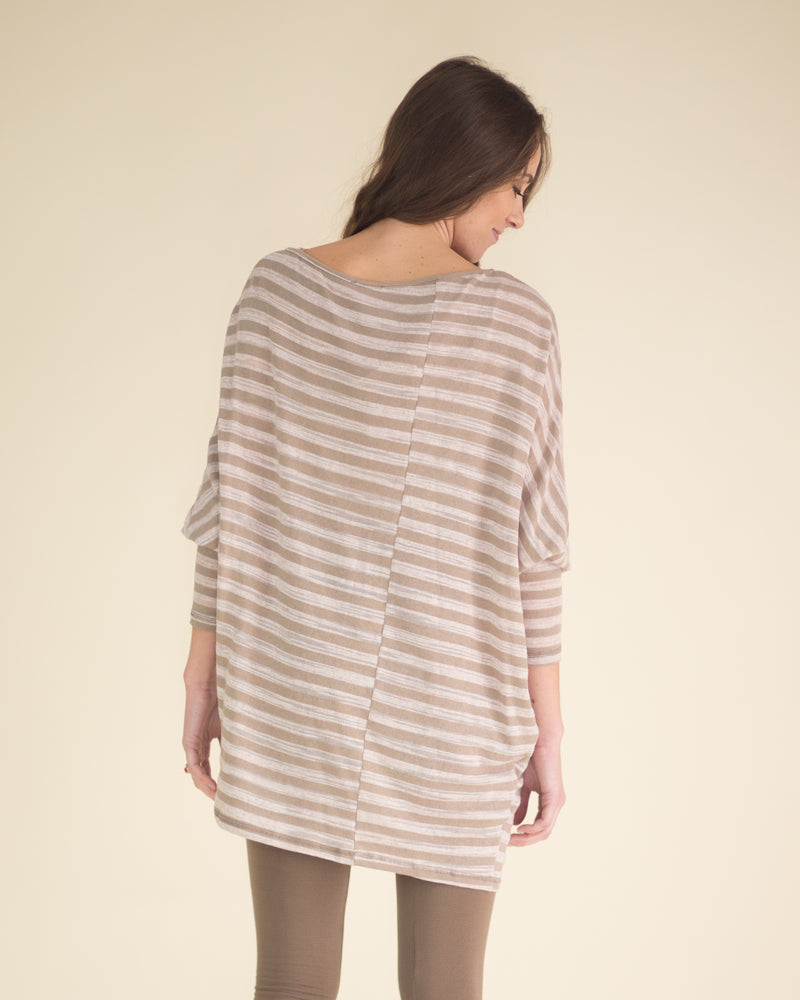 Ultra Soft Striped Tunic Top