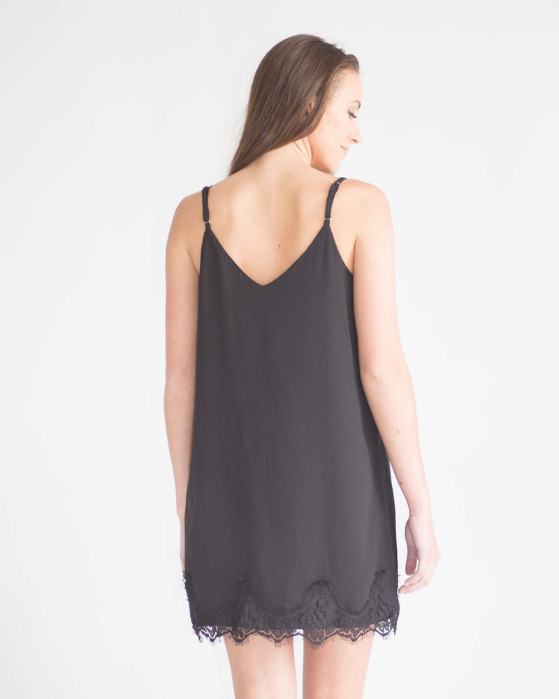 Valencia Lace Detail Slip Dress