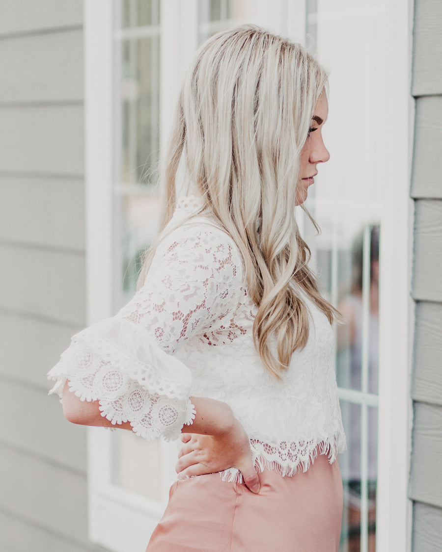 Juliet Bell Sleeve Lace Top