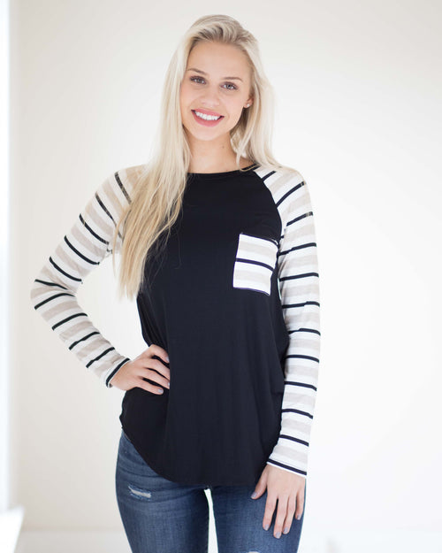 Melanie Striped Long Sleeve | Rose & Remington