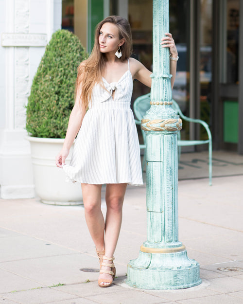 Mila Tie Front Dress | Rose & Remington