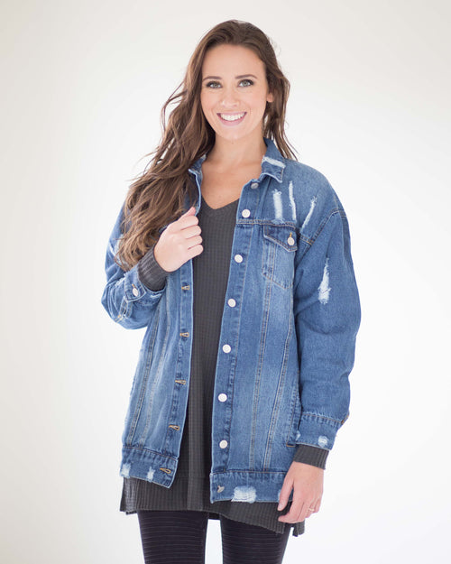 Raven Relax Fit Denim Jacket