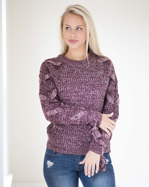 Heidi Tie Down Sleeve Sweater | Rose & Remington