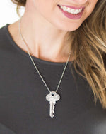 """Blessed"" Key Necklace"