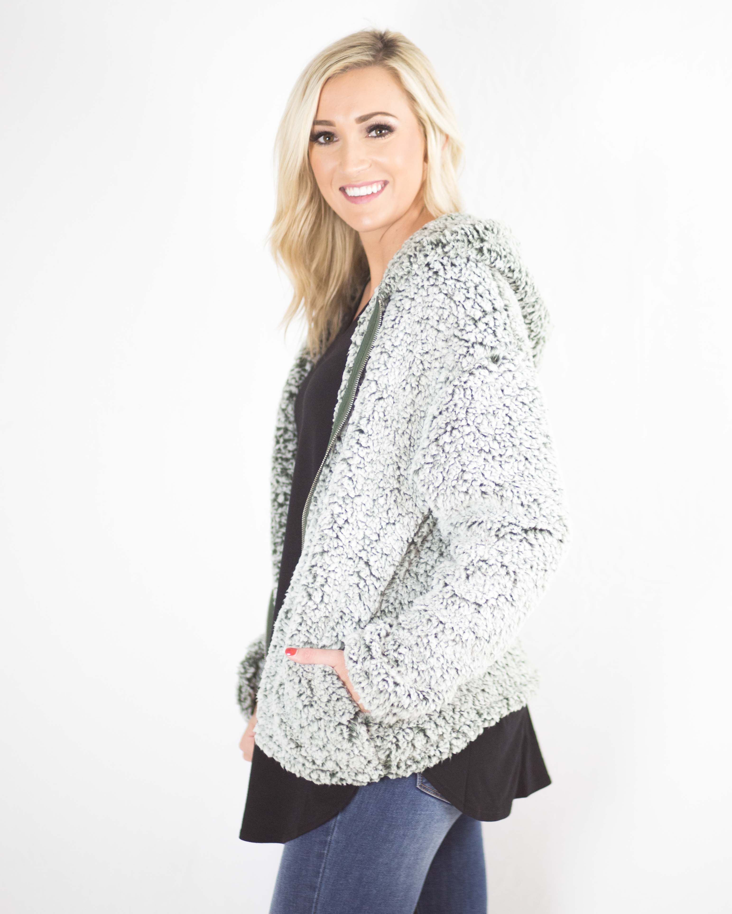 Hailey Hooded Sherpa