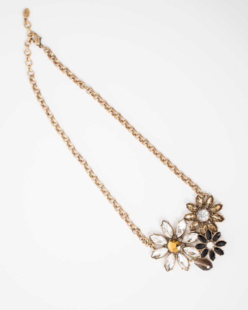 Dazzling Floral Statement Necklace