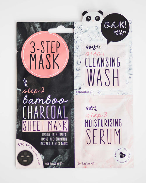 3-Step Bamboo Charcoal Facial Mask
