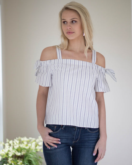 Monroe Tie Sleeve Top | Rose & Remington