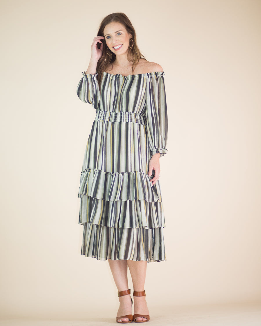 Madeline Tiered Midi Dress