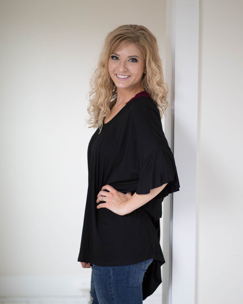 Midnight Knot Back Tunic