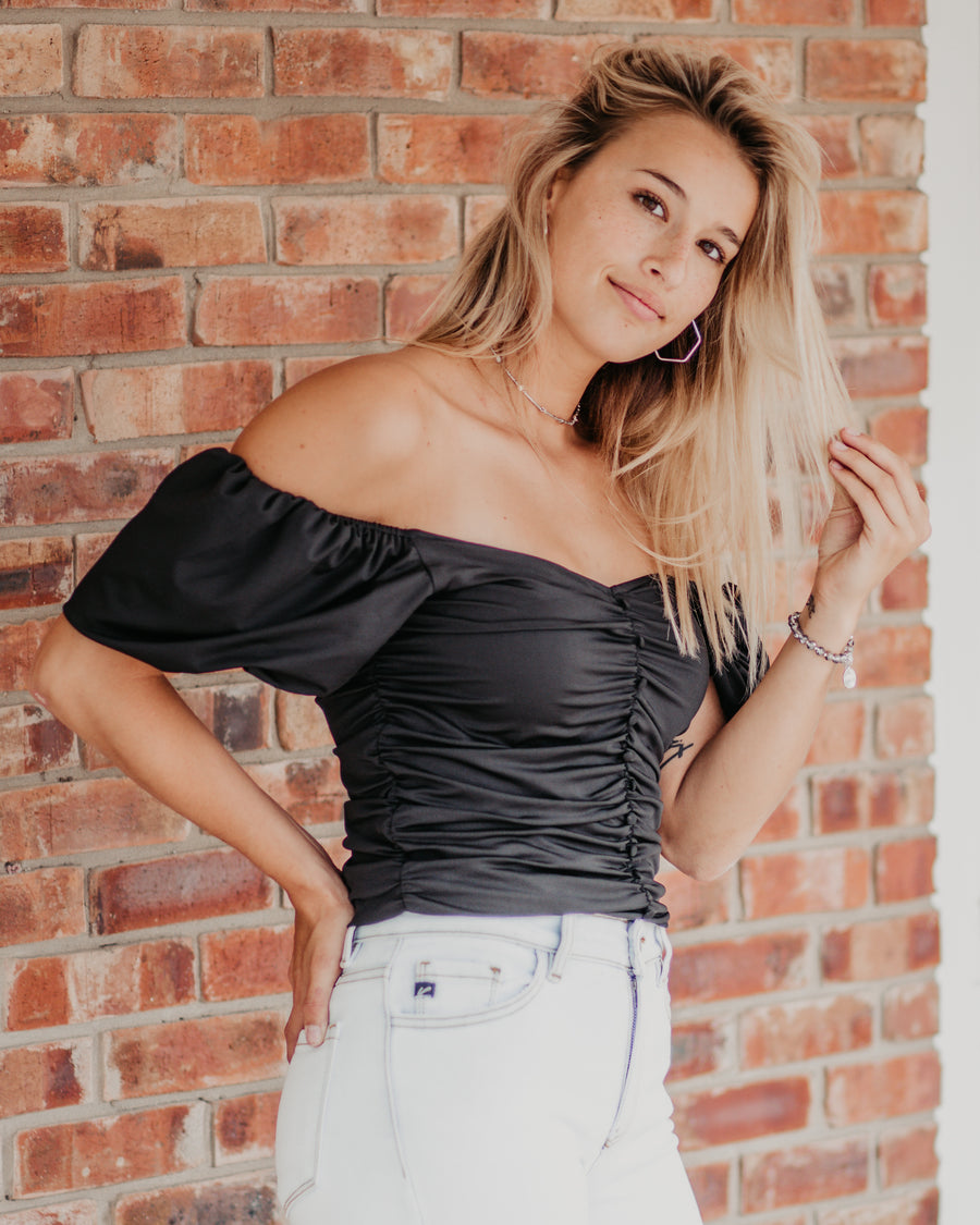 Joanna Ruffle Cropped Top