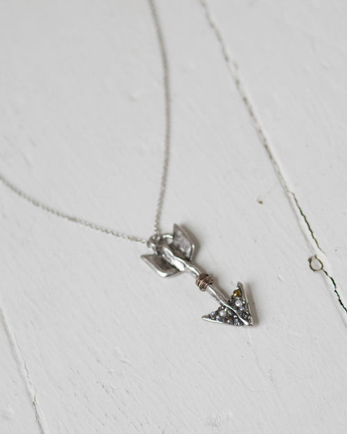 Arrow Silver Necklace | Rose & Remington