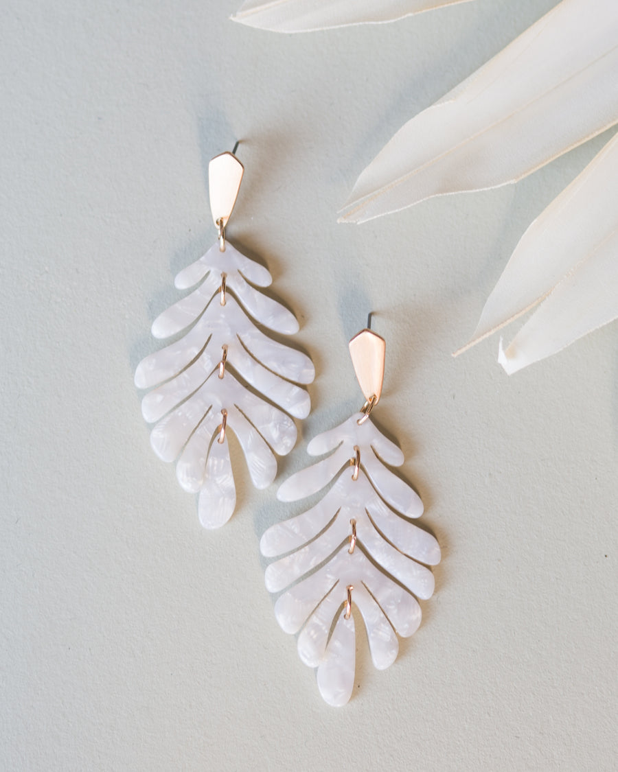 Golden Willow Earrings- Cream