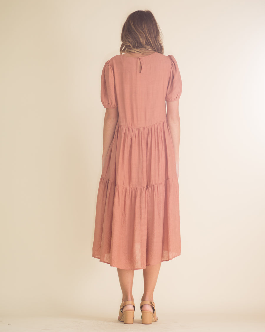 Charity Tiered Midi Dress