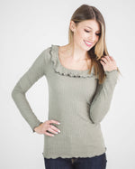 Kennedy Ruffled Long Sleeve Top